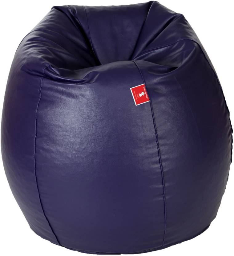 ComfyBean Medium Tear Drop Bean Bag Cover  Without Beans  Blue