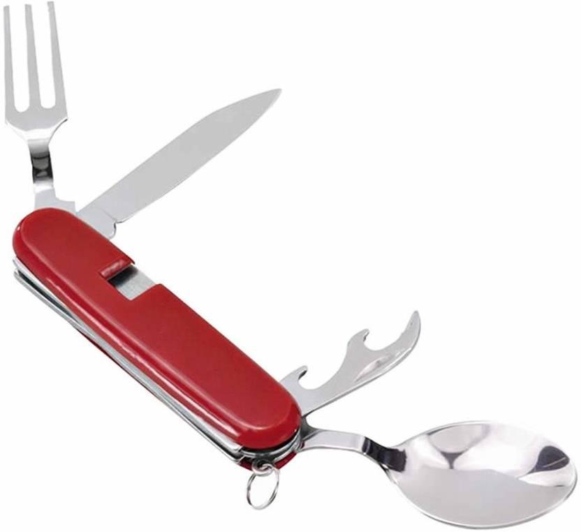 Krivish 4 in 1 Portable 4 Function Multi Utility Swiss Knife Multicolor