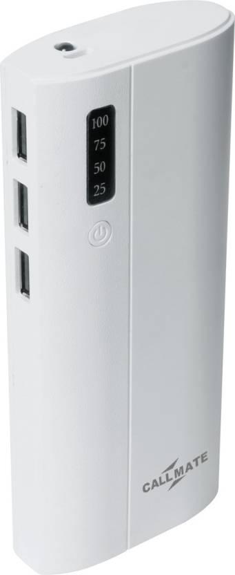 Callmate 13000 mAh Power Bank White, Lithium ion
