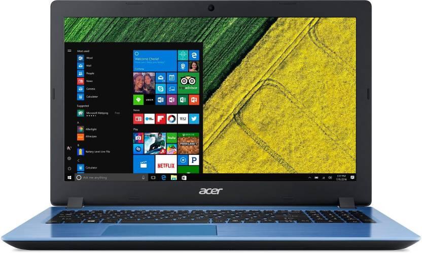 Acer Aspire 3 Pentium Quad Core    4  GB/500  GB HDD/Windows 10 Home  A315 31 Laptop 15.6 inch, Stone Blue, 2.1 kg  Acer Laptops