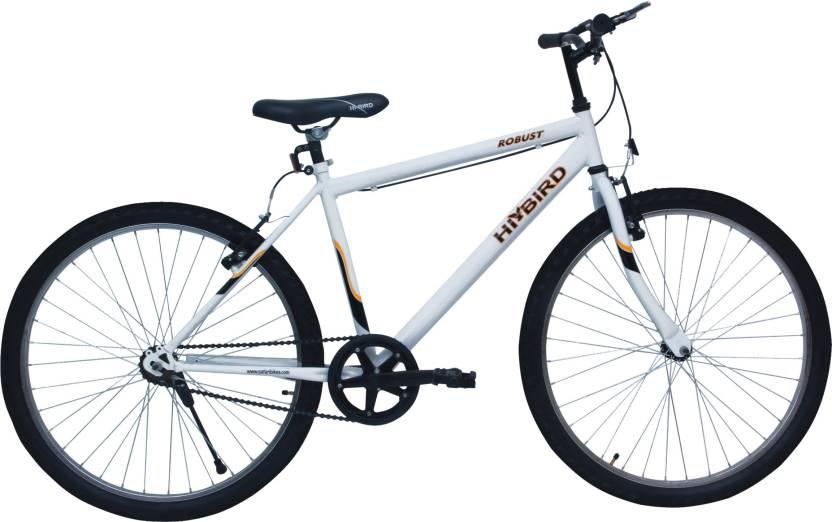 Hi Bird Robust 26T White Cycle 26 T Mountain/Hardtail Cycle Single Speed, White