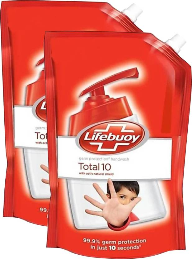 Lifebuoy Total 10 Hand Wash  (1500 Ml, Pouch, Pack Of 2)