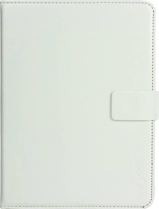 Emartbuy Wallet Case Cover for Xiaomi Mi Pad 4 White Plain, Grip Case