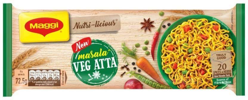 Maggi Nutri-Licious Atta Masala Instant Noodles 290 G  (Vegetarian)