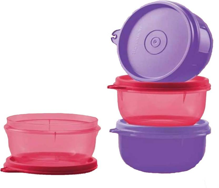 Tupperware Tropical Twins 4 Containers Lunch Box 250 ml