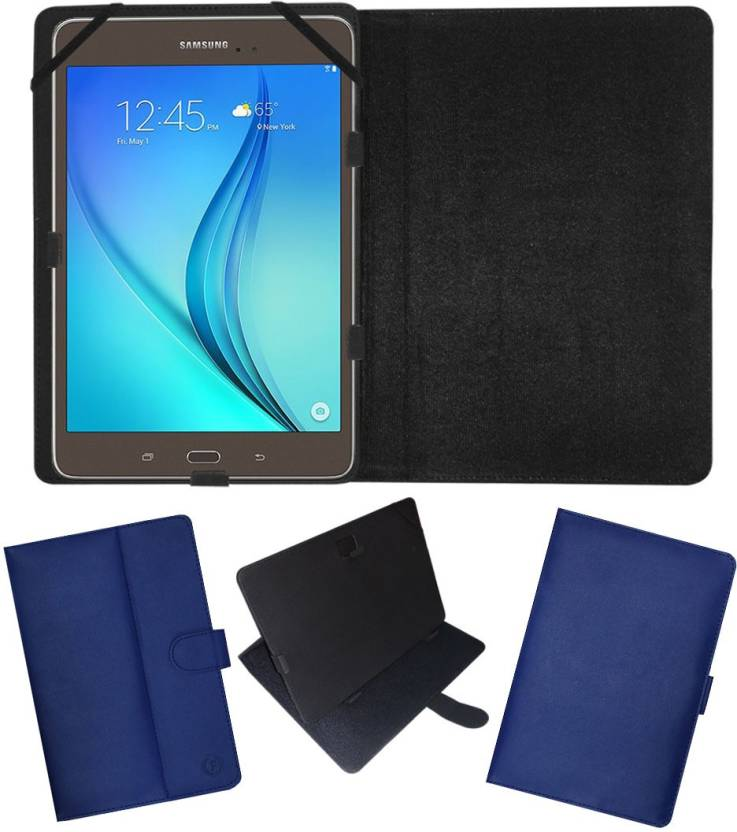 Fastway Flip Cover for Samsung Galaxy Tab A 8.0 T355  Wi Fi/16  GB/4G  Blue, Cases with Holder