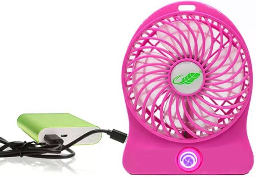 AMUSING Good Quality Portable Personal Fan Mini Regulator Mini Fan K5H5 USB Fan, Rechargeable Fan Pink