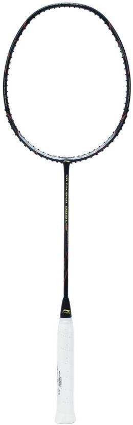 Li Ning Full Graphite Proffesional 3D 009 Combat Technology 30lbs Black Unstrung Badminton Racquet Pack of: 1, 86 g