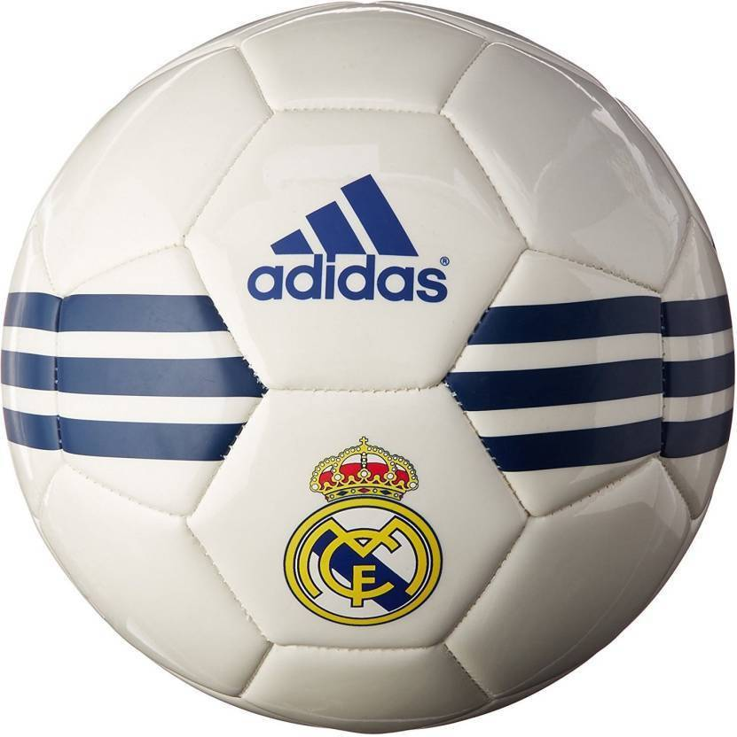 ADIDAS Real madrid Football   Size: 5 Pack of 1, White