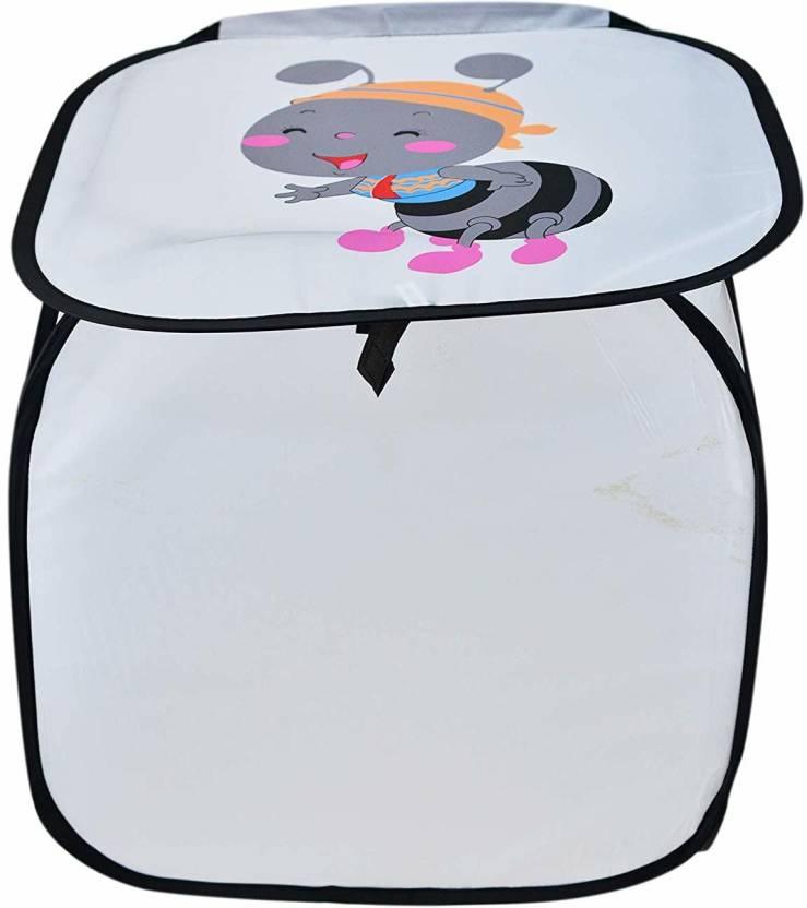 GREENSTAR 20 L Grey Laundry Basket Polyester