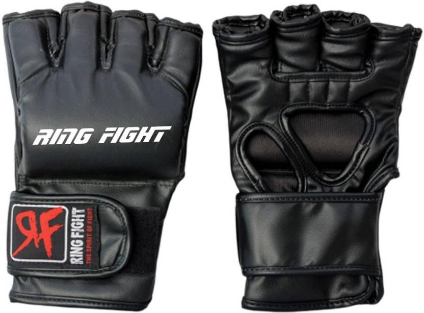 Ring Fight Pro MMA Martial Art Gloves Black