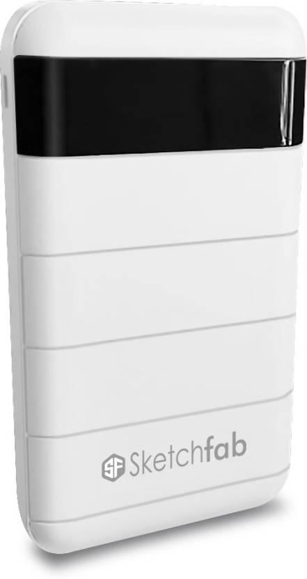 Sketchfab 15000 mAh Power Bank White, Lithium ion