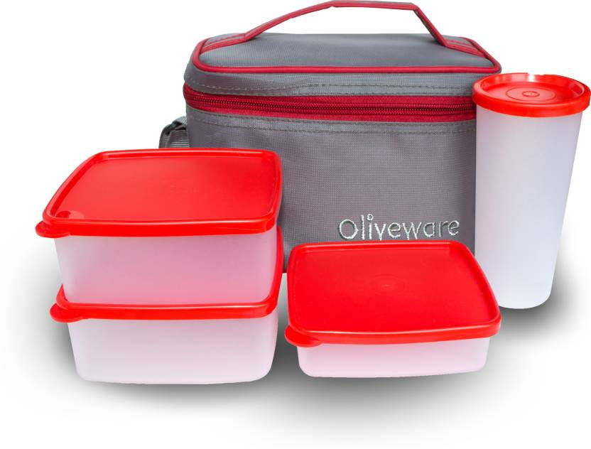 oliveware Stylish 4 Containers Lunch Box 500 ml