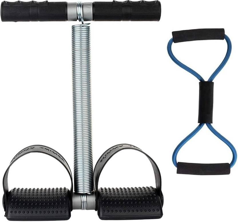 Fitness Kart Single Tummy Trimmer and Resistance Tube for Exercise Gym   Fitness Kit