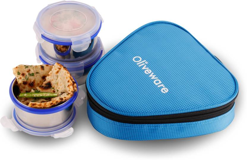 oliveware FRESHY 3 Containers Lunch Box 300 ml