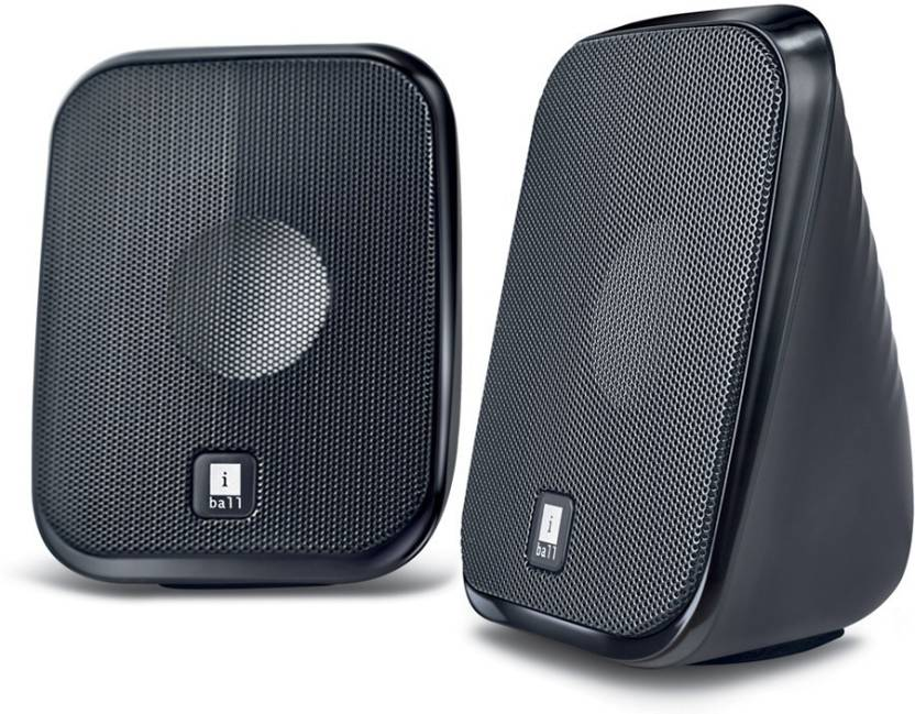 Iball Decor9 Multimedia Speaker 5 W Portable Laptop/Desktop Speaker Black, 2.0 Channel