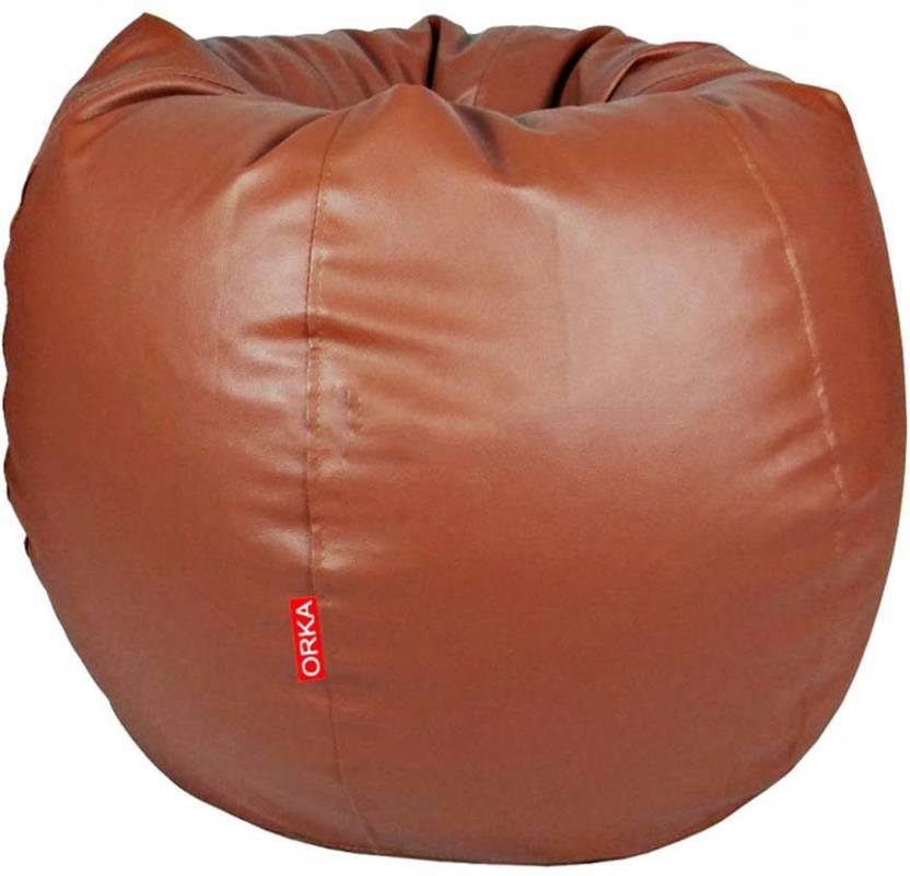ORKA XXL Classic Teardrop Bean Bag With Bean Filling Tan