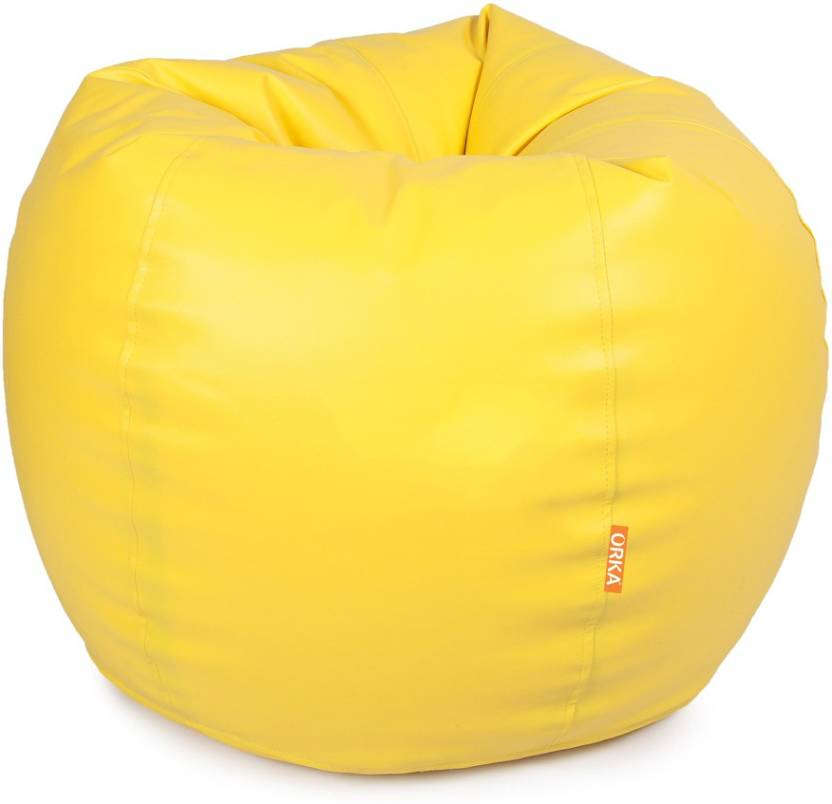 ORKA XXL Classic Teardrop Bean Bag With Bean Filling Yellow