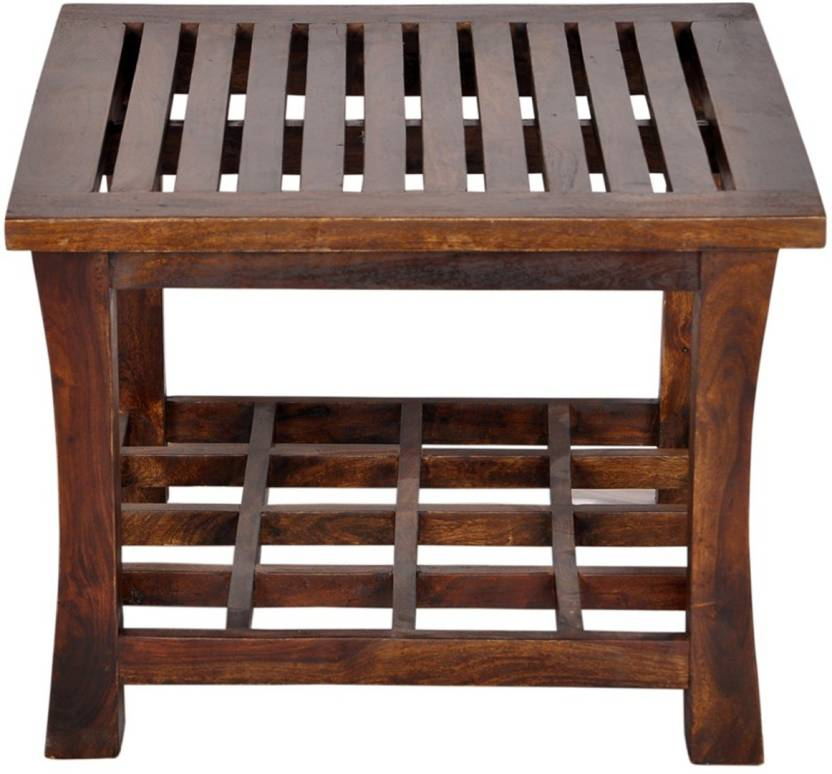 KSARTANDCRAFT Table Solid Wood Coffee Table Finish Color   Honey
