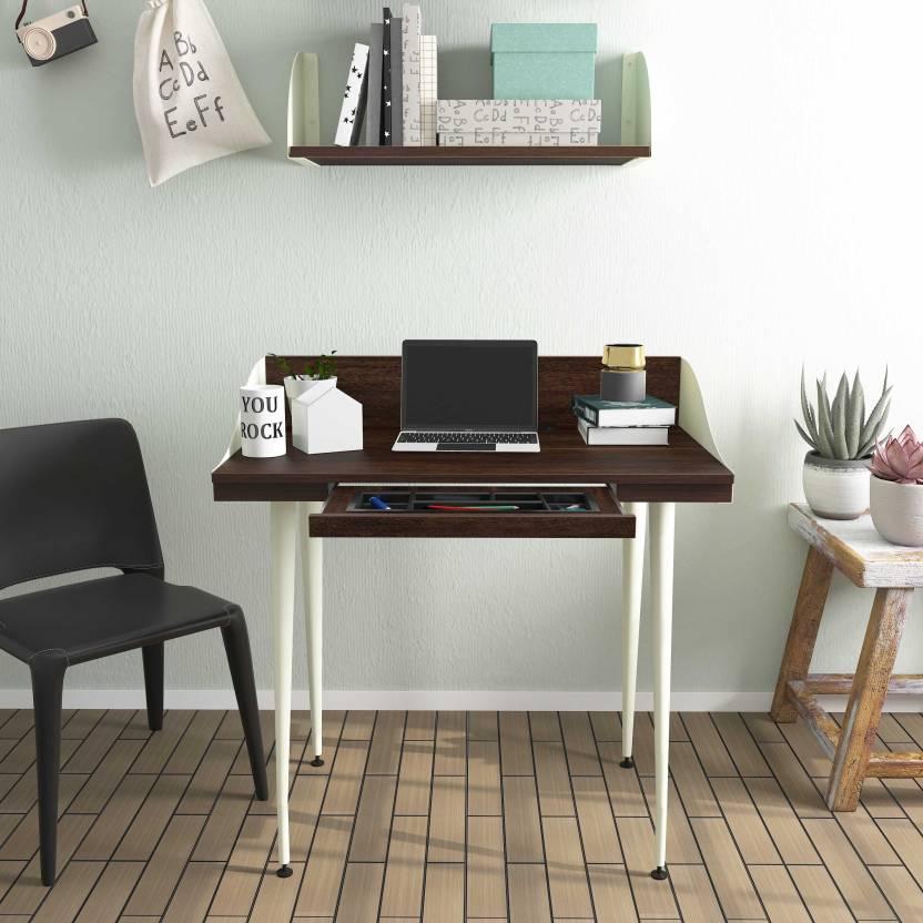 Studio Kook Atlas Engineered Wood Computer Desk Modular, Finish Color   Junglewood