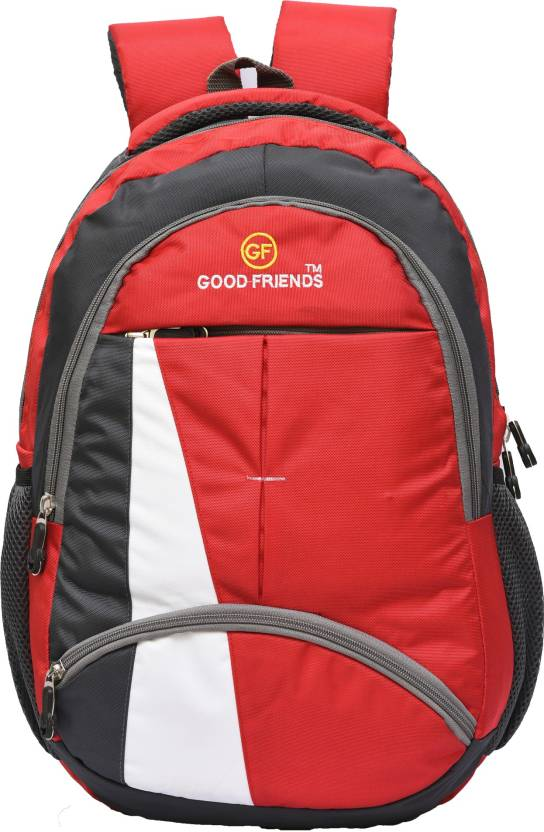 peter india Stylish College Bag Boys And Girls Waterproof Backpack Red, 30 L