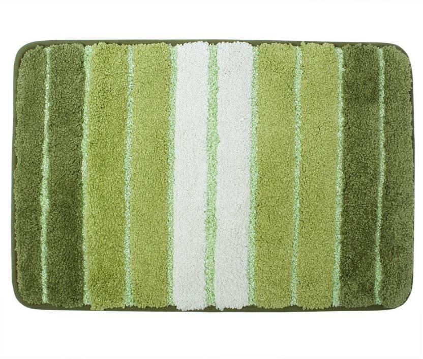 HOKIPO Microfiber Bathroom Mat Green, Large HOKIPO Bath Mats