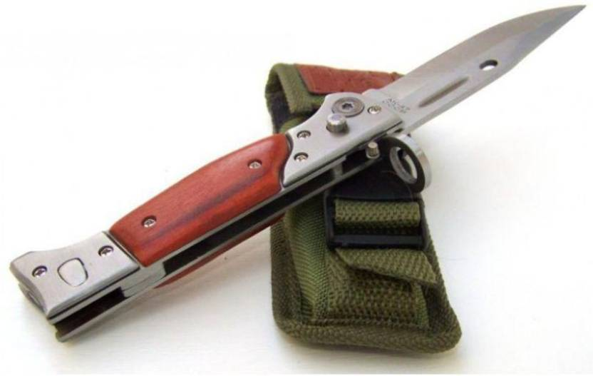 ANTIQUE HANDICRAFTS A_K KNIFE' Campers Knife Brown