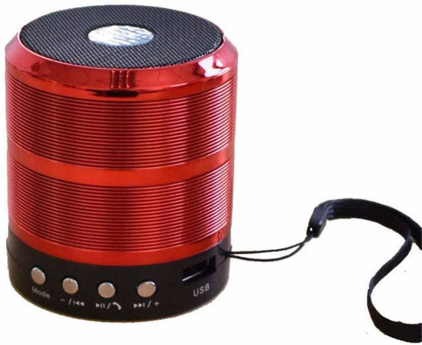 CRETO WS 887 Wireless Portable Stereo Audio Mobile/Tablet 5 W Bluetooth Speaker Red, 3.1 Channel