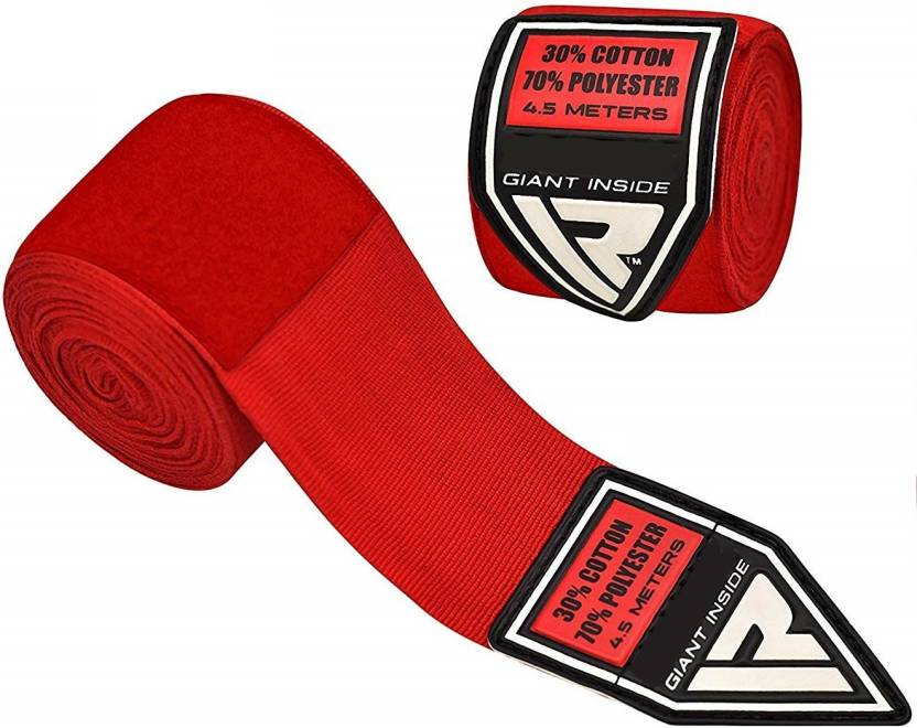 MATRICA Smart Red   Boxing Hand Wraps Bandages Fist Inner Gloves Muay Thai Pairs Wrist Support Red