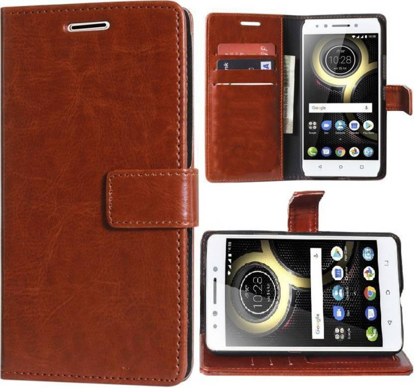 Groovy Flip Cover for Vivo Y83 Brown