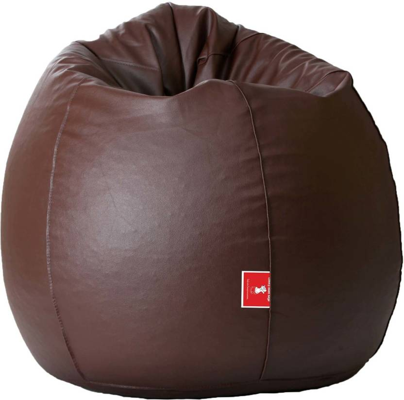 ComfyBean Medium Tear Drop Bean Bag Cover  Without Beans  Brown