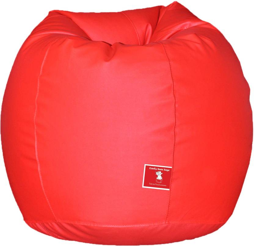 ComfyBean XL Tear Drop Bean Bag Cover  Without Beans  Red