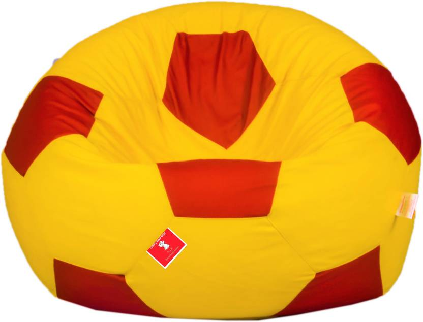 ComfyBean XXL Chair Bean Bag Cover  Without Beans  Red, Yellow