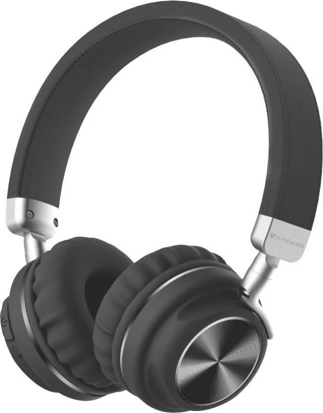 Ultraprolink On Ear Wireless Multimedia Bluetooth Headphones Bluetooth Headset with Mic Black, Over the Ear