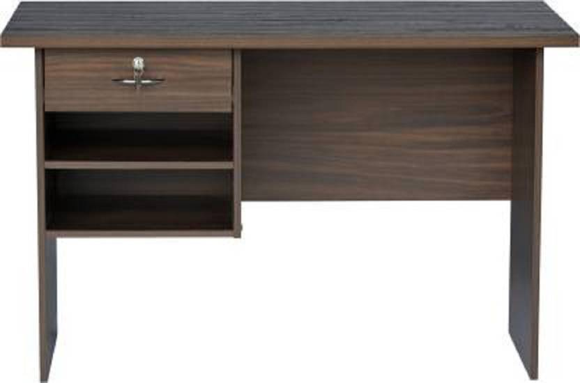 hi tech Solid Wood Office Table Free Standing, Finish Color   Dark Wenge