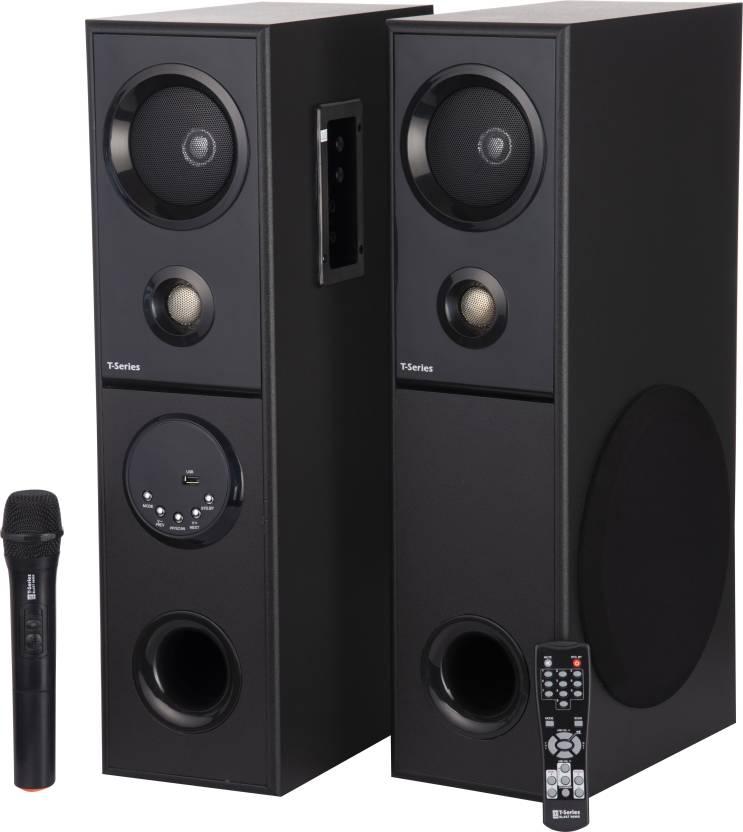 T Series BLAST 9999X 60 W Bluetooth Tower Speaker Black, 2.0 Channel