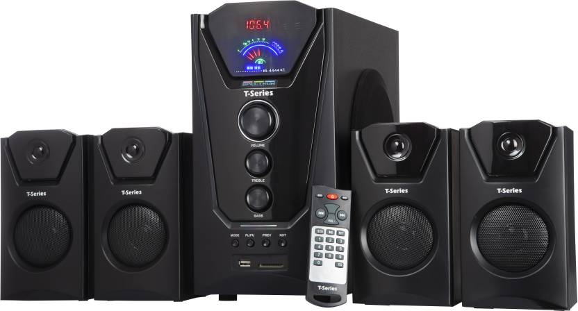 T Series M4444BT 4.1 Multimedia Speaker with Bluetooth 40 W Bluetooth Home Theatre Black, 4.1 Channel