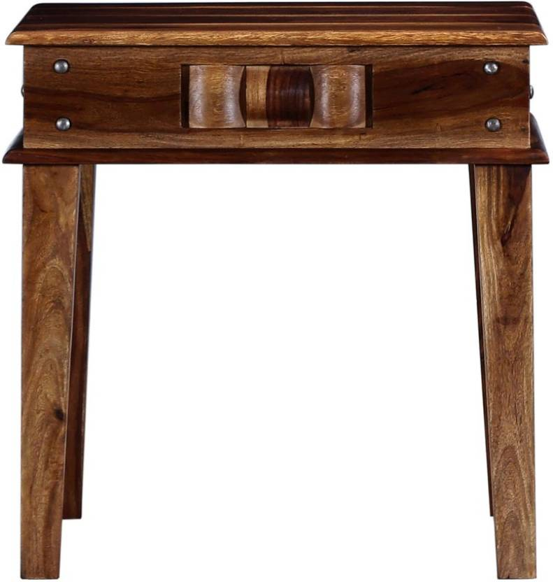 Versatile Solid Wood End Table Finish Color   Walnut