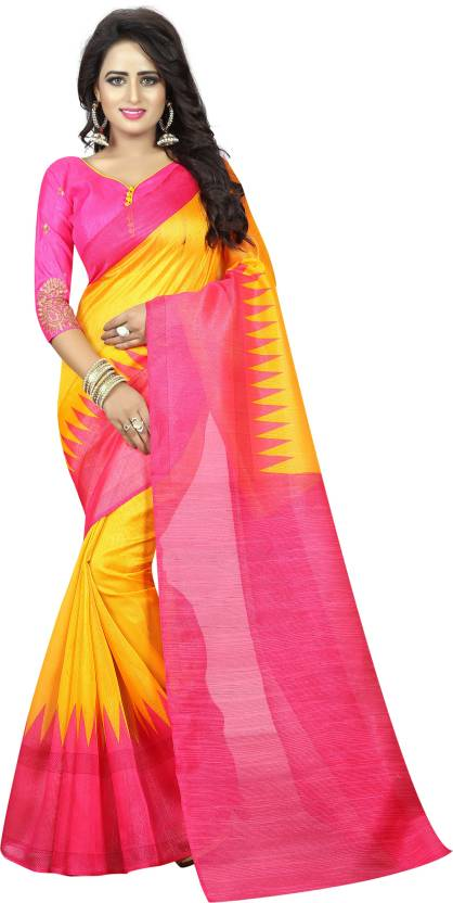 A to z-cart-women's-art-silk-printed-saree (pink-pallu-pink-free-size)