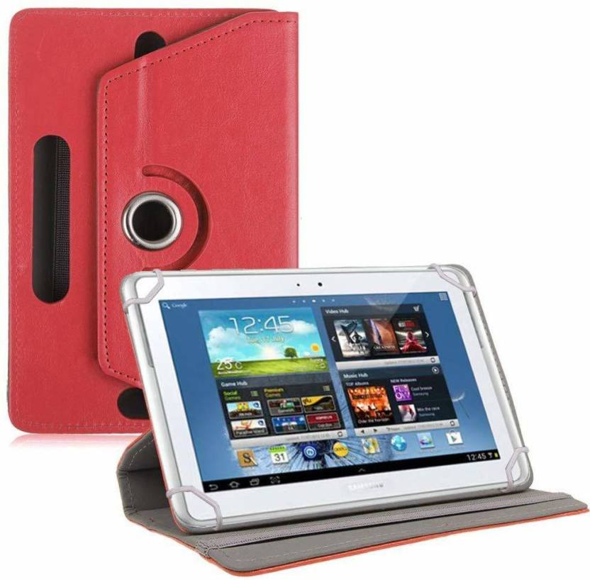 TGK Flip Cover for Samsung Galaxy Note 10.1 inch  GT N8000,GT N8010, GT N8020, GT N800, N8005, N8013  Rotating Case Red, Cases with Holder