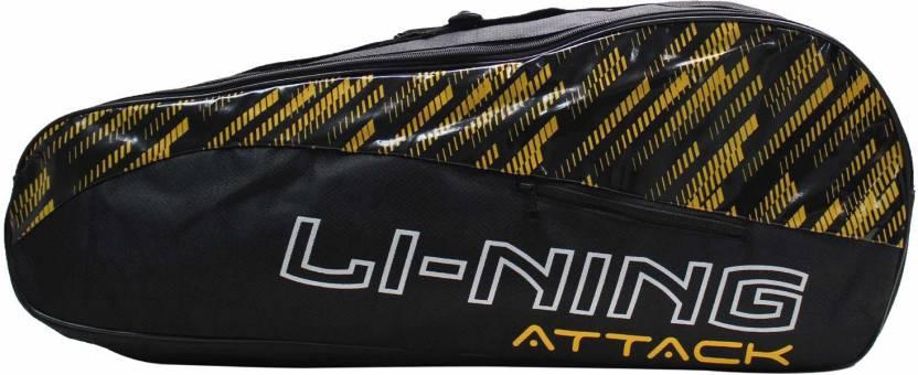 Li Ning 2 in 1 Badminton Kitbag   with additional Shoe Bag Black, Kit Bag