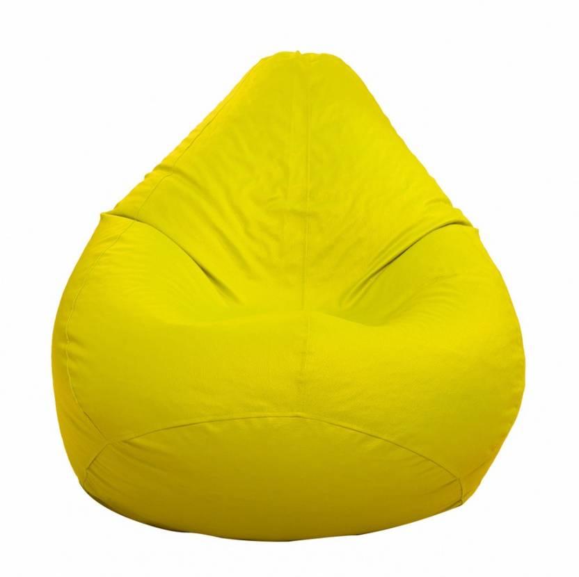 STYLECO XXL Yellow Teardrop Bean Bag With Bean Filling Yellow