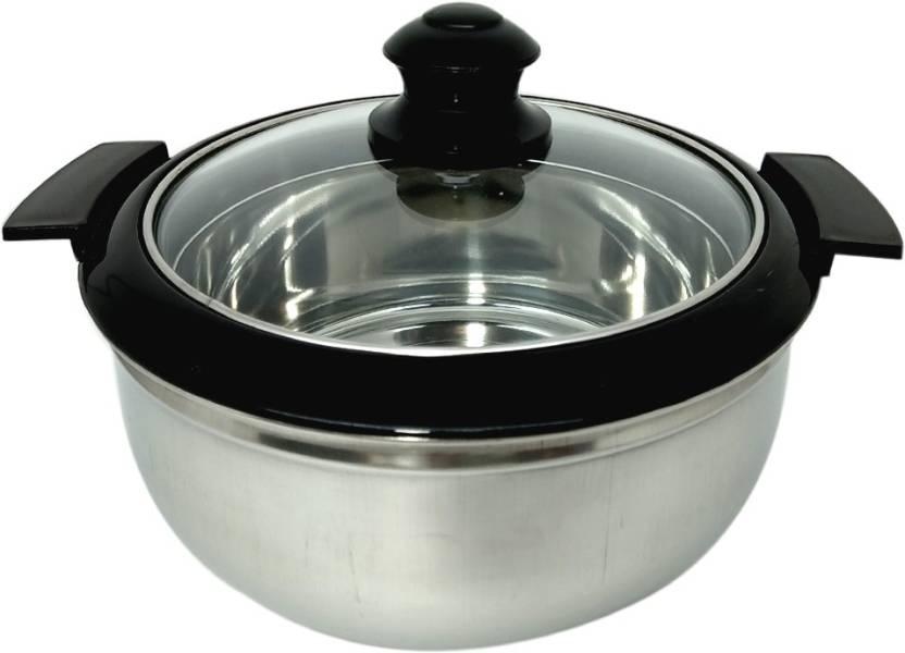 bartan hub Stainless steel Double walled casserole 2500ml Serve Casserole 2500 ml
