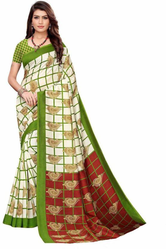 A to z-cart-women's-art-silk-printed-saree ( palav-keri-mehandi-mehendi-free-size )