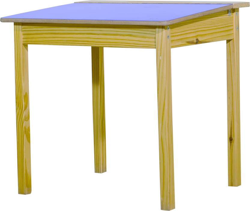 Funiture4kids Solid Wood Study Table Finish Color   Natural Wood