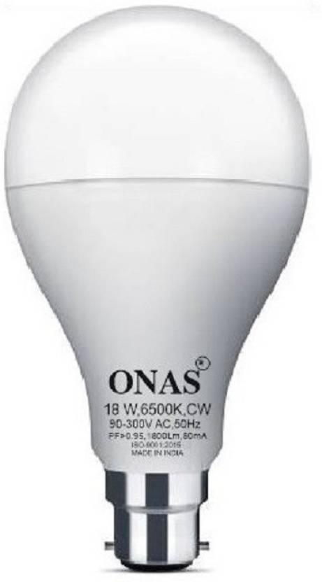 Onas 18 W Standard B22 LED Bulb White Onas Bulbs
