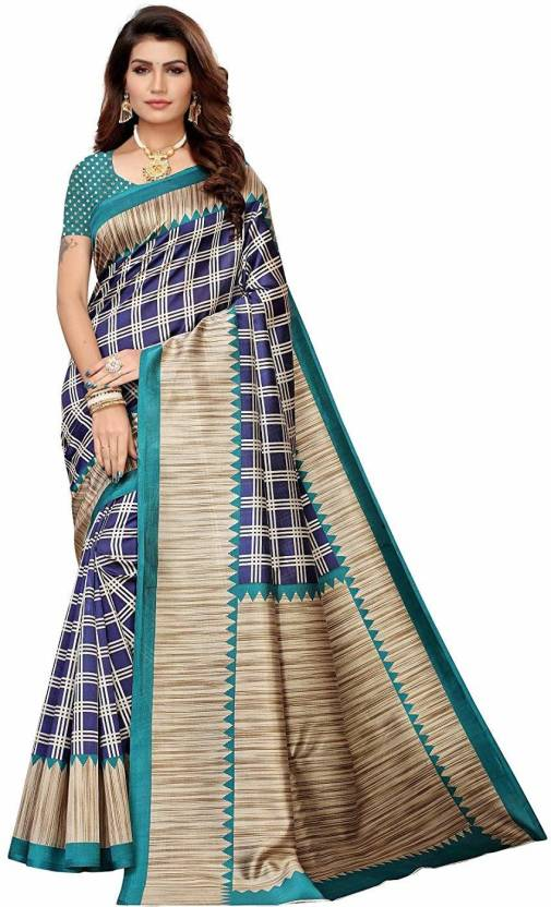 A to z-cart-women's-art-silk-printed-saree ( duble-cheks-rama-rama-free-size )