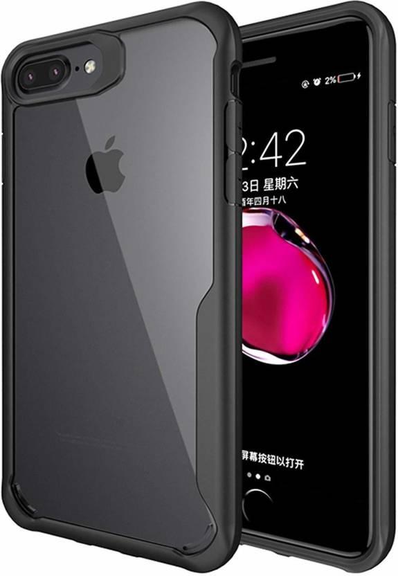 YOCOLOURS Back Cover for Apple iPhone 7 Plus, Apple iPhone 8 Plus Black