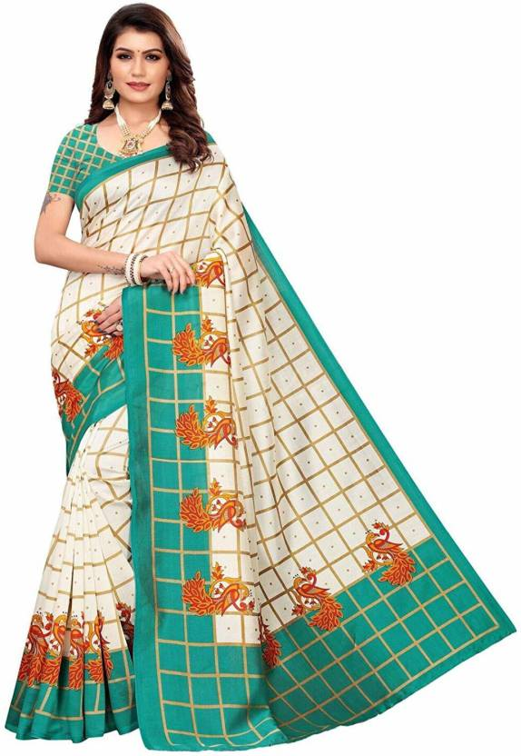A to z-cart-women-s-art-silk-printed-saree ( pallu-mor-rama-rama-free-size )