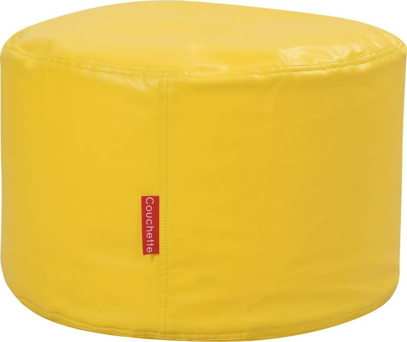 Couchette Medium Bean Bag Footstool With Bean Filling Yellow